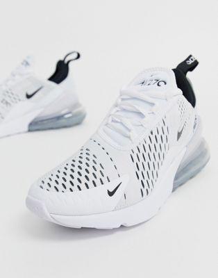 Nike White And Black Air Max 270 Sneakers Asos White Nike Shoes White Nikes Black Nike Shoes