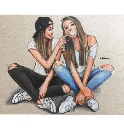 Photography Girl Beach Best Friends 21 Ideas Photography Drawings Of Friends Friends Sketch Best Friend Drawings
