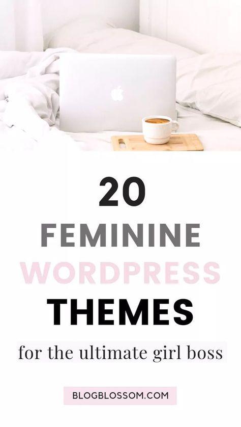 20 Elegant & Feminine Wordpress Themes - Blog Blossom