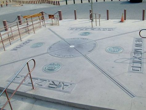 The U.S. Four Corners- Arizona, Utah, New Mexico, and Colorado. I wish to be 4 places at once!!