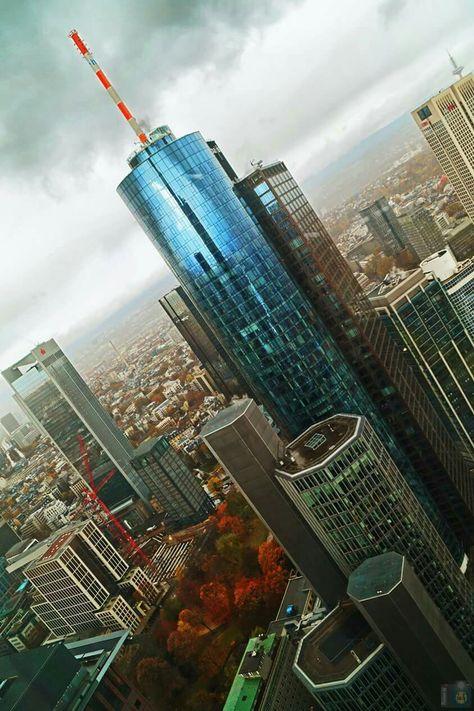 Frankfurt Blick Aus Dem Commerzbank Tower Frankfurt Tipps Schone Orte