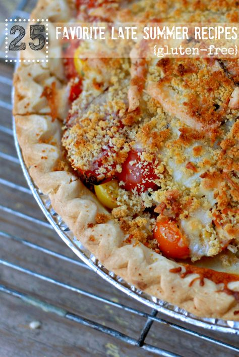 25 Favorite Late Summer Recipes #glutenfree - Savory Tomato Pie  BoulderLocavore.com