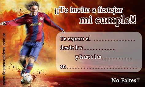 Tarjeta De Cumpleaños De Lionel Messi Para Imprimir