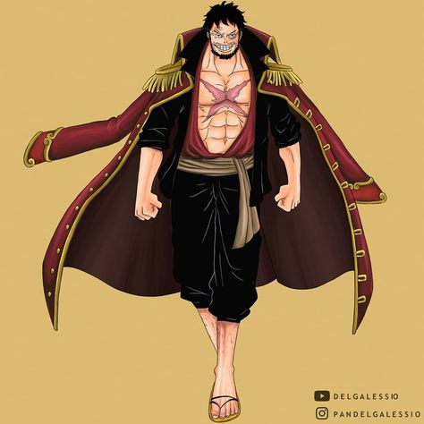 The King Of Pirates Monkey D Luffy Age 60 By Delgalessio