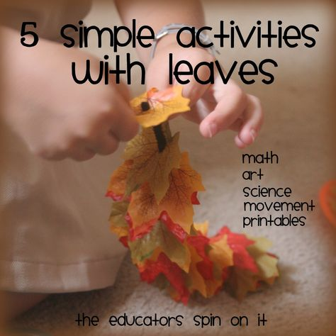 The Educators' Spin On It: 5 Simple Leaf Activities at Afterschool Express