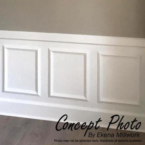 Ekena Millwork 12 In W X 24 In H X 1 2 In P Ashford Molded Classic Wainscot Wall Panel Pn Wainscoting Wall Dining Room Wainscoting Wainscoting Wall Paneling