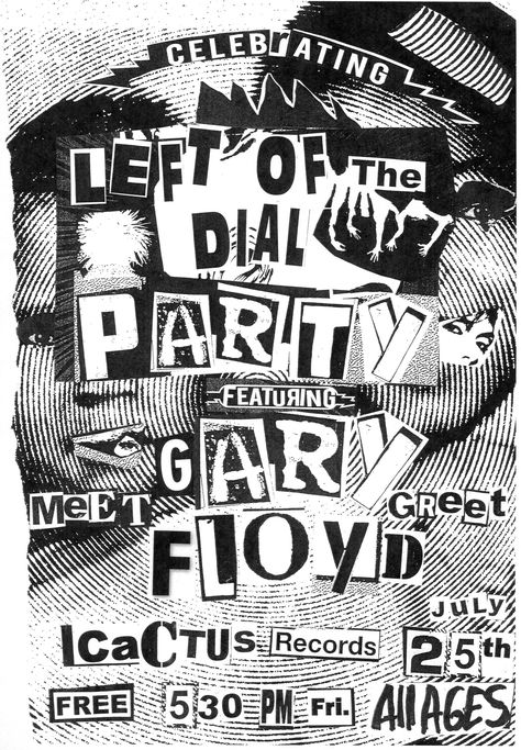 Left of the Dial Party Poster