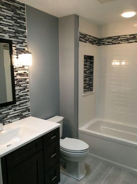 27 Amazing Small Bathroom Remodel Ideas Small Bathroom Remodel Stylish Bathroom Bathroom Remodel Designs