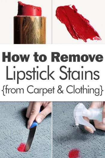 How To Get Red Lipstick Out Of White Carpet