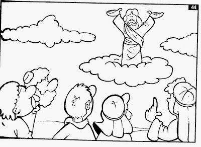 Sekolah Minggu Lembar Mewarnai Tuhan Yesus Naik Ke Surga Lembar Mewarnai Warna Tuhan