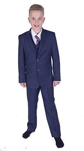 Cinda 5 Piece Blue Boy Suits Wedding Suit Page Boy Party Prom Suits