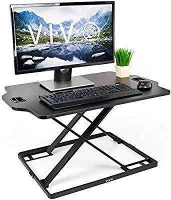 Vivo Black Single Top Height Adjustable Standing 32 Quot Desk Sit