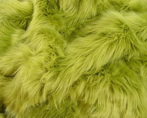 """Olive Green Mongolian Long Pile Faux Fur Apparel Crafting Fabric 60/"""" BTY"""