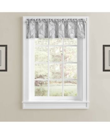 J Queen New York Horizons Straight Valance Silver Contemporarybathroomwindowcurtains Valance Curtains Window Valance