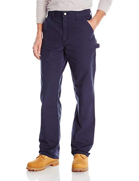 NAVY CARHARTT B151 CANVAS LOOSE ORIGINAL FIT WORK DUNGAREE PANTS