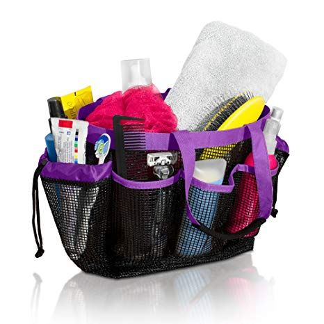 Mesh Shower Caddy And Bath Bag Organizer Tote With 9 Storage Compartments And Two Reinforced Handles This Mesh Shower Caddy Tote Organization Bag Organization