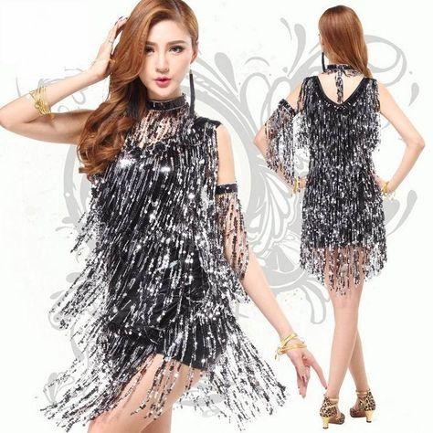 e89d586d8fdf $16.89/piece:buy wholesale sequined latin dance dress,ballroom tango dance  dress,