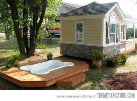 Ultimate Dog House Pool Included Luxury Dog House Cool Dog