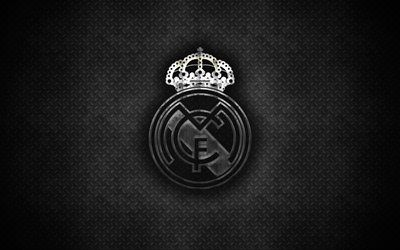 Download Wallpapers Real Madrid Cf 4k Metal Logo Creative Art
