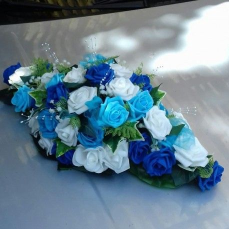 Composition de voiture pour mariage thème bleu roi et