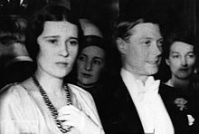 """Thelma, Viscountess Furness (August 23, 1904 – January 29, 1970), born Thelma Morgan, was a mistress of King Edward VIII, who later became the Duke of Windsor, she preceded Wallis Simpson in the affections of him. Her first name was pronounced in Spanish fashion as """"TEL-ma."""" Her niece is fashion designer Gloria Vanderbilt.Shown here with the Prince of Wales"""