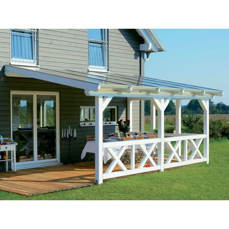 Terrassenüberdachung Holz-geschützter Sitzplatz-im Freien - auswahl materialien terrassenuberdachung