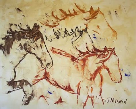 "SPIRITED HORSES #1 Storm /""THE ALARM/"" CANVAS Art ~ LARGE"