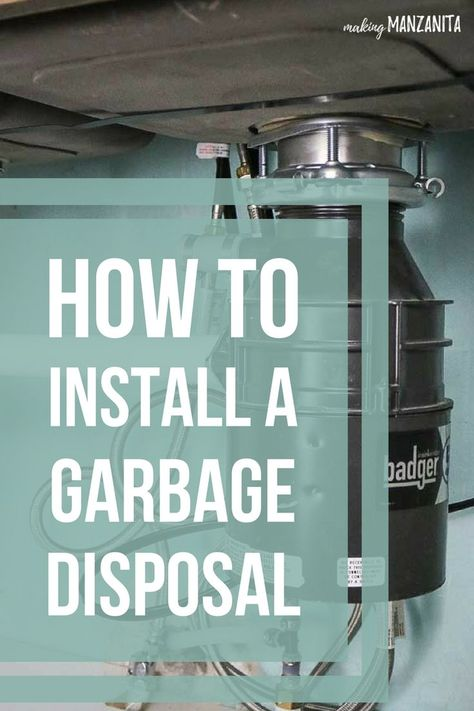 How To Install A Badger Garbage Disposal Plumbing Installation