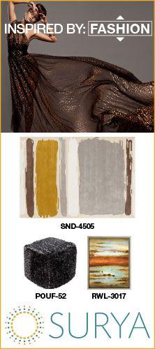Surya rug and accessory package inspired by fashion #inspiredbysurya