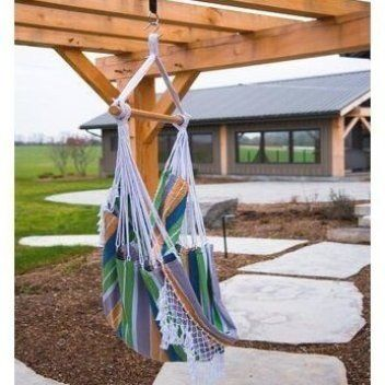 Bungalow Rose These Banach Chair Hammock Are Tightly Woven With High Quality Cotton Thread Resulting In A Heavy Durable In 2020 Hammock Chair Hammock Outdoor Settings
