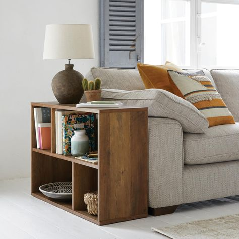 Dunelm Exclusive - Designed and Developed by Dunelm. Side Table Decor, Table Decor Living Room, Home Living Room, Apartment Living, Side Table Styling, Side Table Lamps, Console Tables, Living Room Side Tables, Living Room Layouts