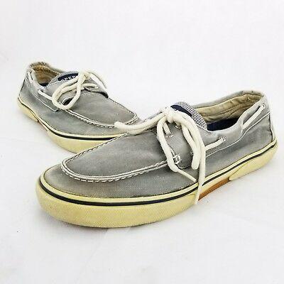 Eye Gray Canvas Boat Shoe Men