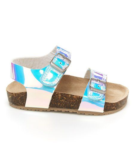 Carters Blue Iridescent Buckle-Strap