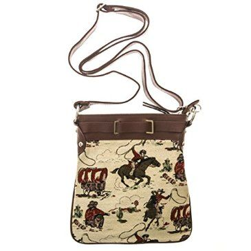 It's the classic cowboy feel with a fashionable twist. Pick up this crossbody purse from the Cracker Barrel Old Country Store.