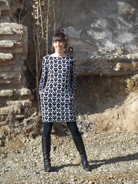 schnittmuster #nähen #fine #evlisneedle #damen #sweatkleid #kleid ...