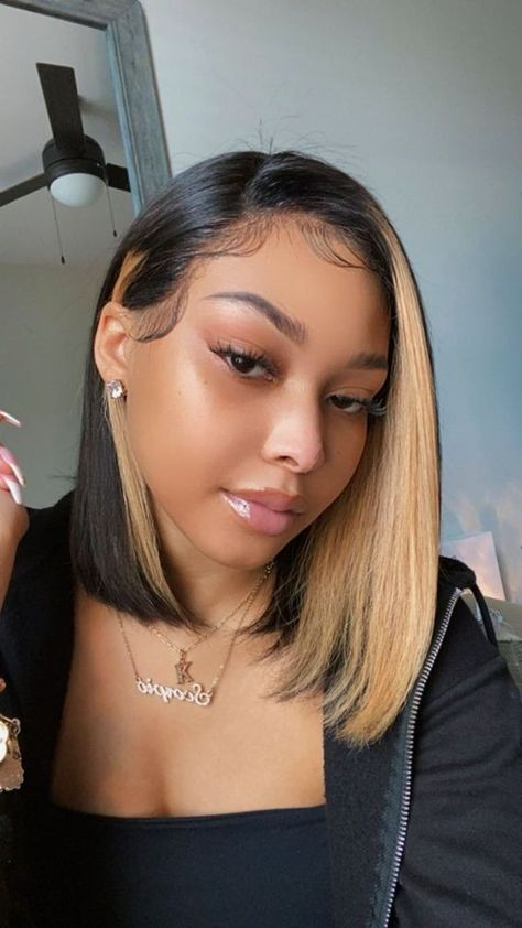 Dyed Natural Hair, Dyed Hair, Bob On Natural Hair, Cabello Afro Natural, Curly Hair Styles, Natural Hair Styles, Ponytail Styles, Aesthetic Hair, Baddie Hairstyles