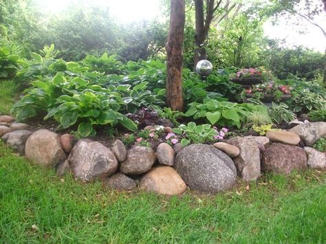 Landscape With Field Stone Google Search Landscaping With