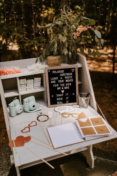 Wedding Book, Wedding Humor, Dream Wedding, Polaroid Wedding Guest Book, Wedding Photo Guest Book, Wedding Ceremony, Reception, Rustic Wedding Guest Book, Wedding Souvenir