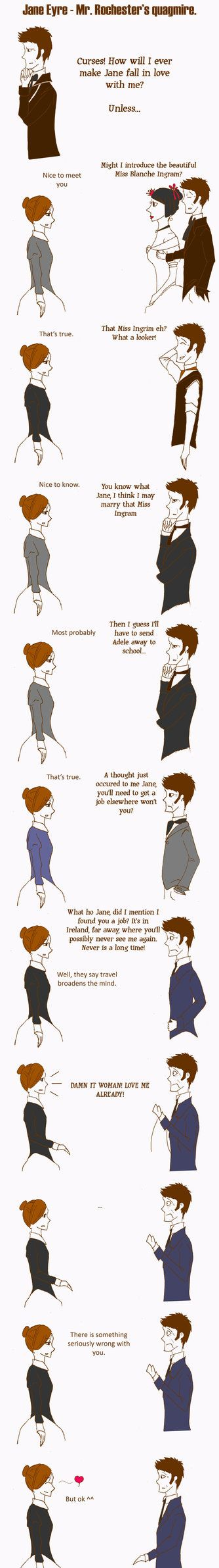 Damn it Woman! Love me already! - Jane Eyre humor   (Not a Jane Austen book but going on the board anyway)