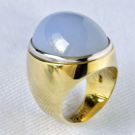 Chalcedony Ring by CookieRichersDesign on Etsy