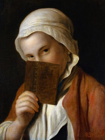 "Pietro Antonio Rotari  ""Portrait of a Girl with a Book"""