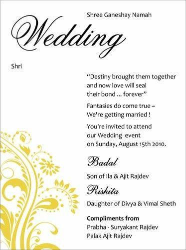 Wedding Card Wordings For Friends Invitation