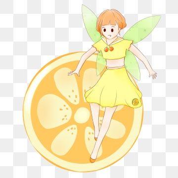 Fairy tail summer. Fruit orange elf with