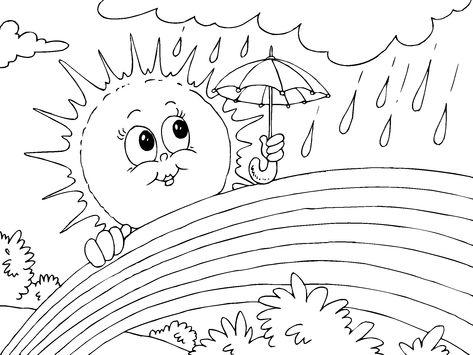 regenbogen ausmalbild zum ausdrucken   malvorlagen frühling, lustige malvorlagen und malvorlagen