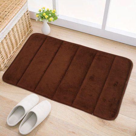 40*60CM Coral Velvet Non-slip Mat Bath Bathroom Bedroom Carpet Floor Shower Rug