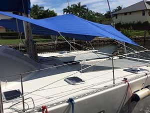 Forward Awning For Multihull Lagoon 42 In 2020 Awning Canvas Awnings Sun Awnings