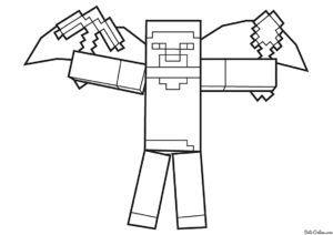 Minecraft Boyama Sayfalari Zoyuncak Minecraft