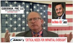 Daryl Guberman Makes Powerful Video Exposing Ansi S Need For Impartial Oversight From Us Based Federally Recogni In 2020 Press Release Youtube Videos American Business