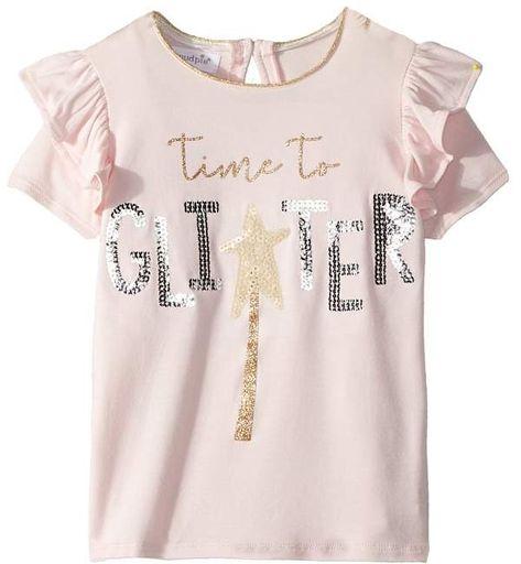 Mud Pie Glitter Sequin Short Sleeve Tee Girl's Clothing