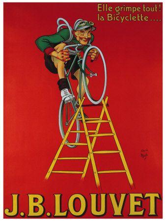 Cycles Ladder J.B. Louvet Poster